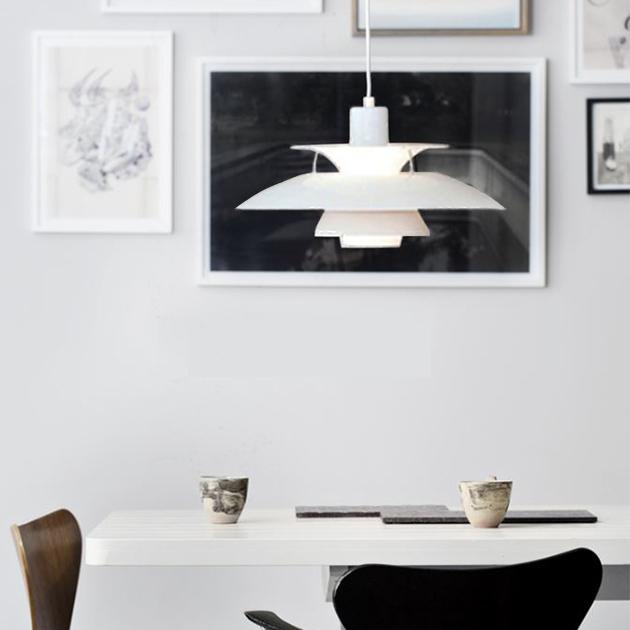 PH5 Louis Poulsen 吊燈(黑/白) 3