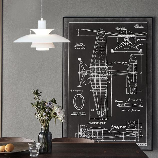 PH5 Louis Poulsen 吊燈(黑/白) 2
