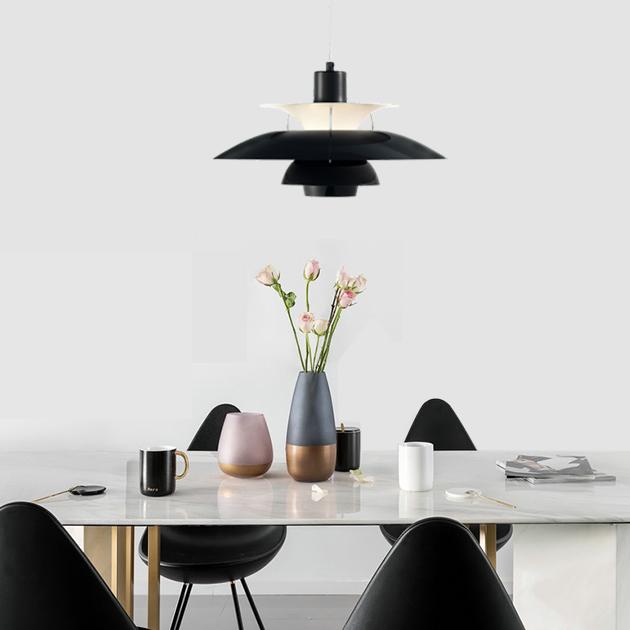 PH5 Louis Poulsen 吊燈(黑/白) 4