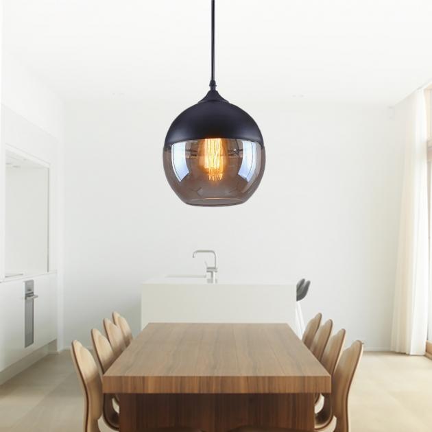 工業風透明玻璃吊燈 1