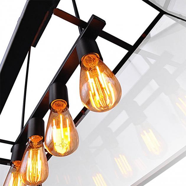 復古工業風玻璃箱餐吊燈 3