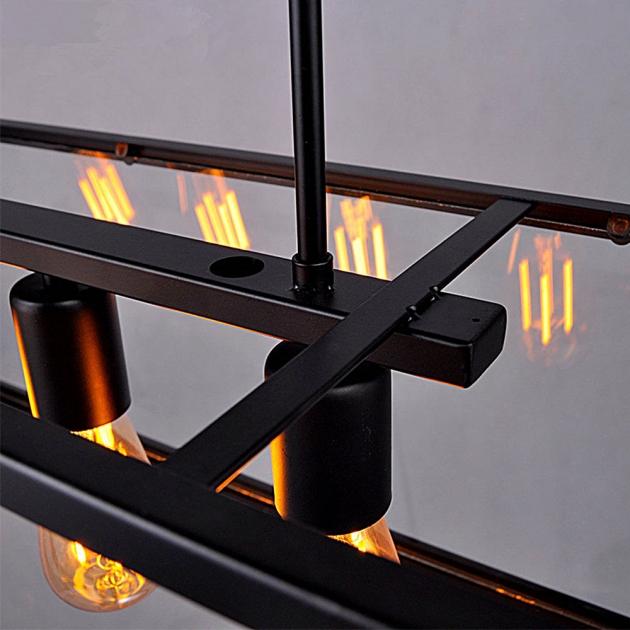 復古工業風玻璃箱餐吊燈 4