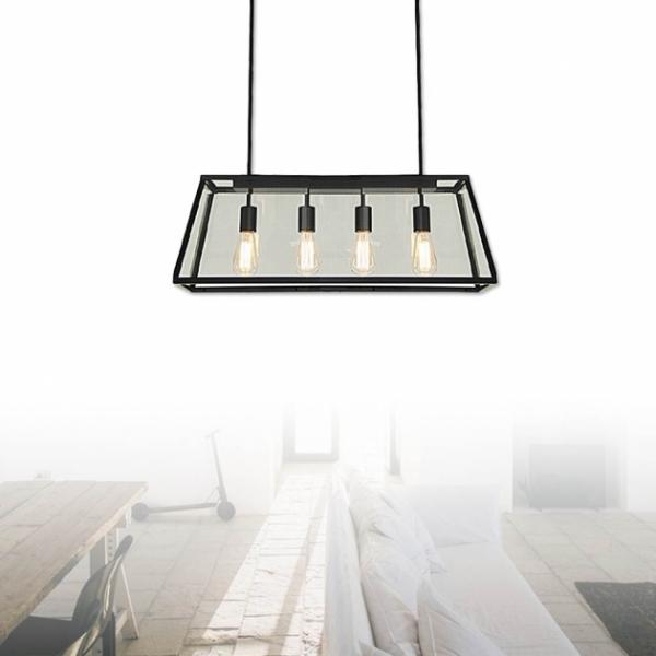 復古工業風玻璃箱餐吊燈 1
