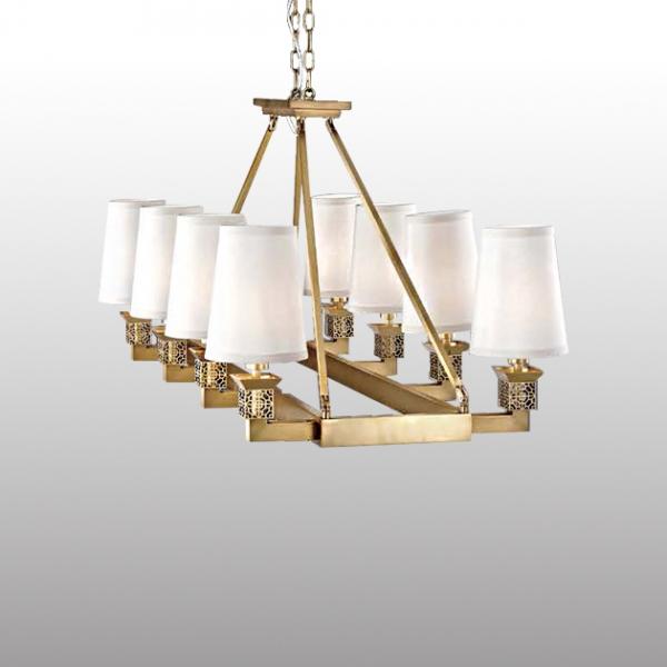 古典鄉村吊燈-8燈 1