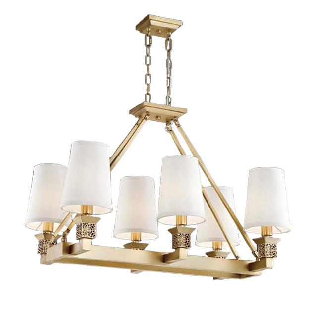 古典鄉村吊燈-6燈 1