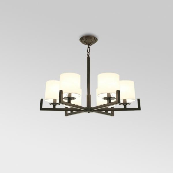 新中式布藝簡約吊燈 1
