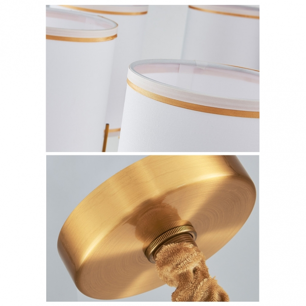 後現代黑金直筒吊燈-6燈 3