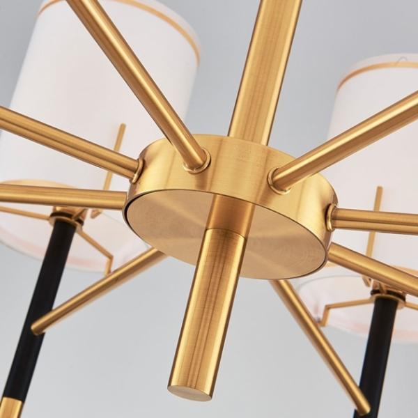 後現代黑金直筒吊燈-6燈 2