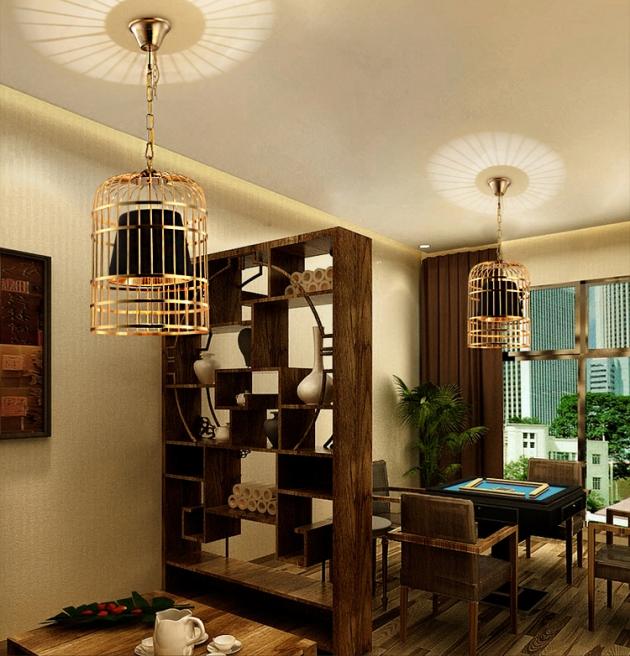 金色鳥籠吊燈 4
