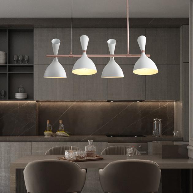 摩登長型餐吊燈-4燈 3