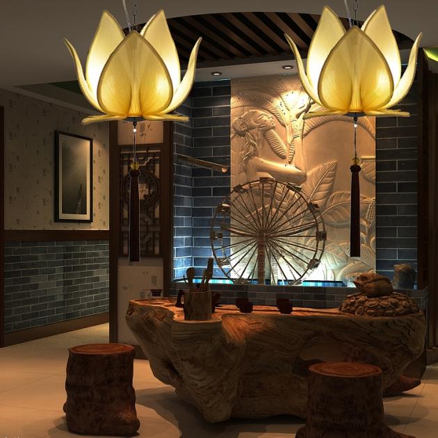 中式荷花吊燈 3