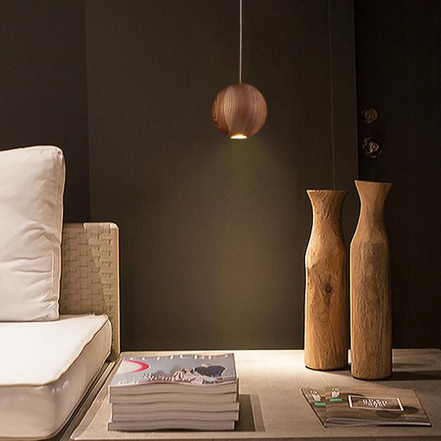 Wood Ball 木球吊燈 5
