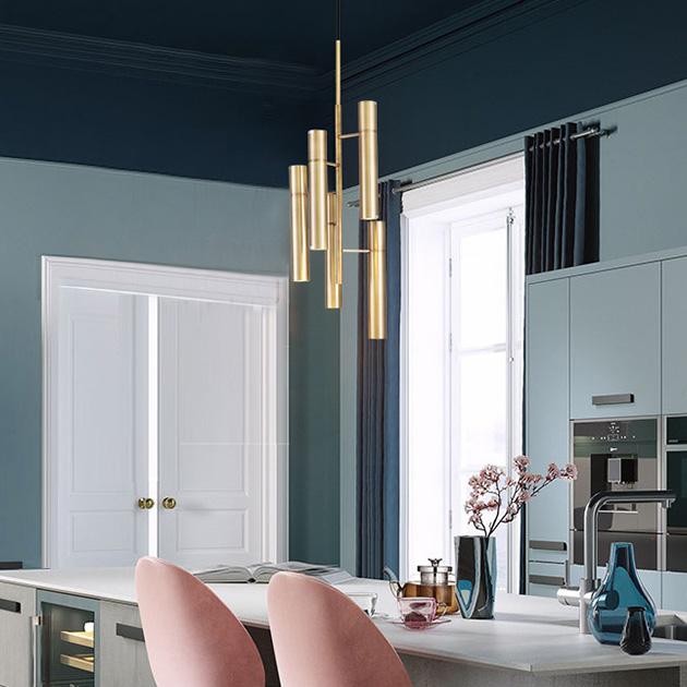 Trident  黃銅吊燈 2
