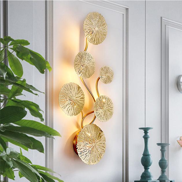 Kiriha  銅葉壁燈 4