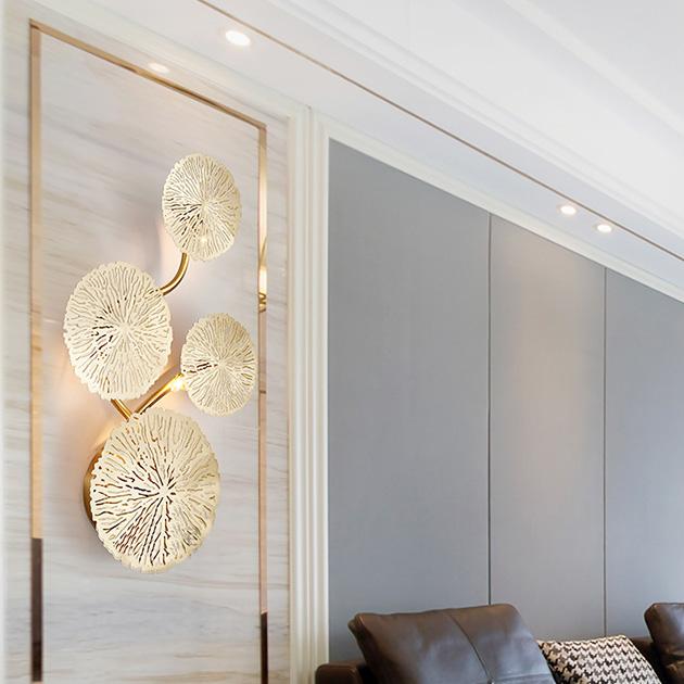 Kiriha  銅葉壁燈 3