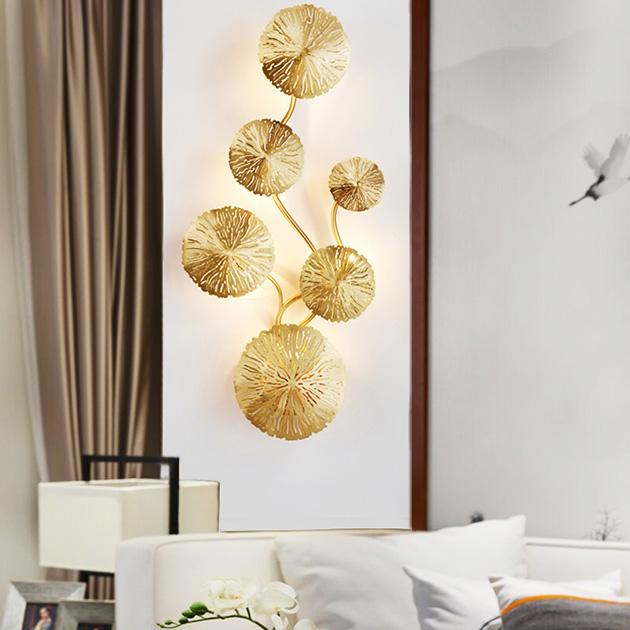 Kiriha  銅葉壁燈 5