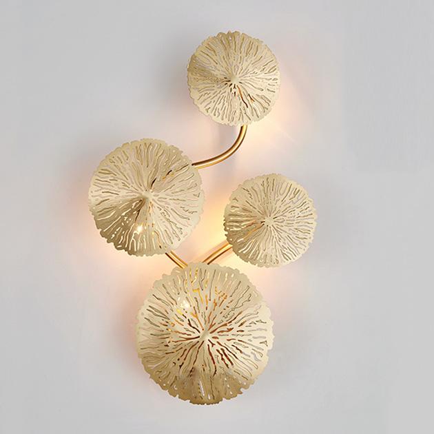 Kiriha  銅葉壁燈 1