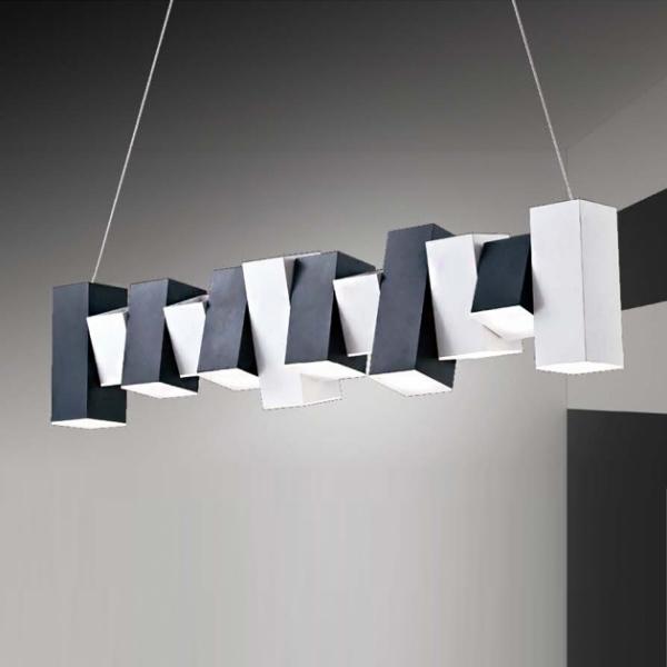 黑白鋼琴鍵吊燈 2
