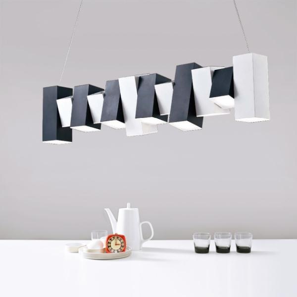 黑白鋼琴鍵吊燈 1