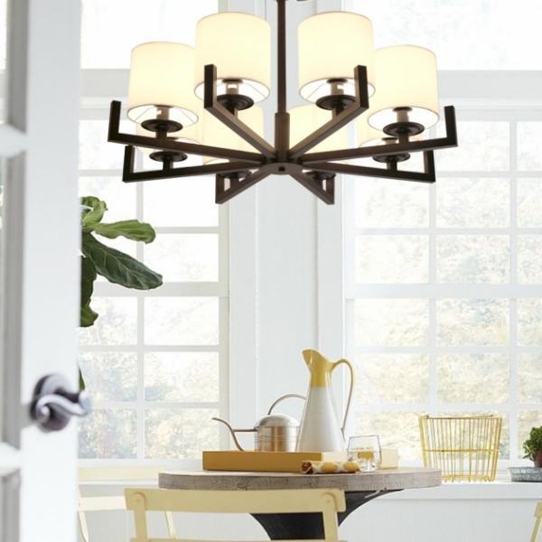 新中式布藝簡約吊燈 3