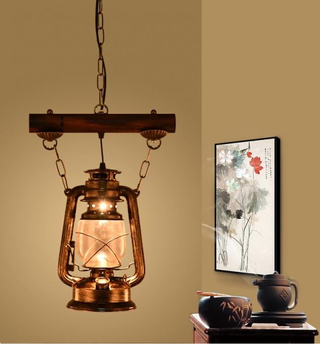 工業風復古油燈吊燈 4