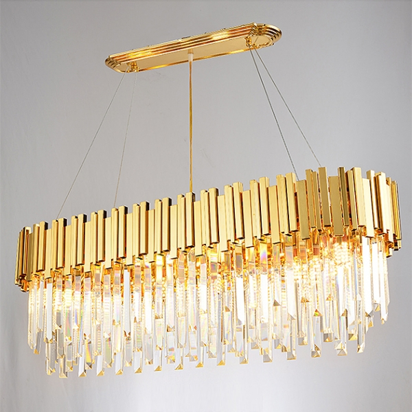 美式水晶橢圓吊燈 1