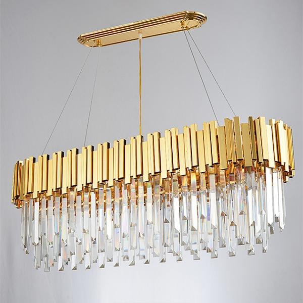 美式水晶橢圓吊燈 2