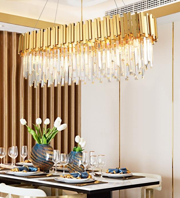 美式水晶橢圓吊燈 3