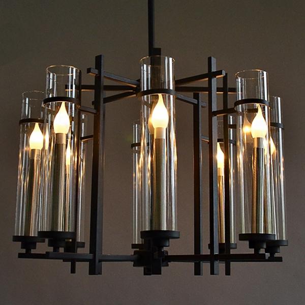 新中式玻璃管吊燈 1