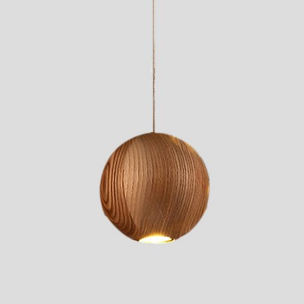 Wood Ball 木球吊燈 1