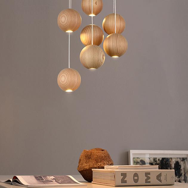 Wood Ball 木球吊燈 4
