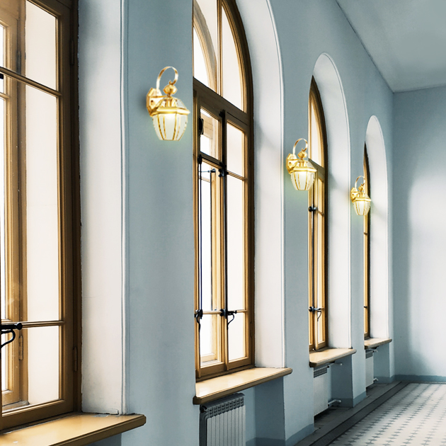 Shira 黃銅防水壁燈 4