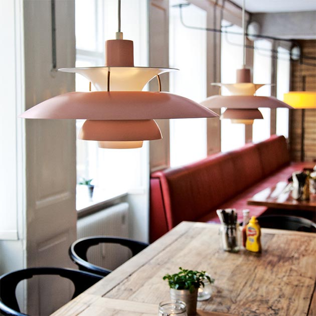 Louis Poulsen PH5吊燈(粉/綠) 2